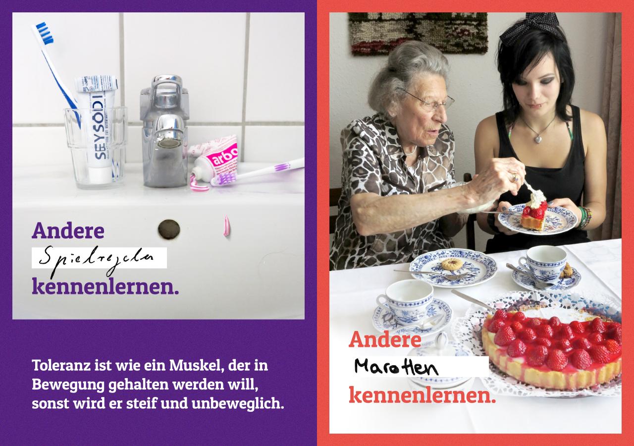 EKHN Impulspost - Toleranz üben üben ©gobasil ~ Agentur für Kommunikation, Hamburg Hannover